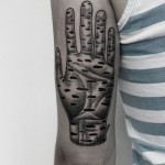 Ilya Brezinski hand tattoo design