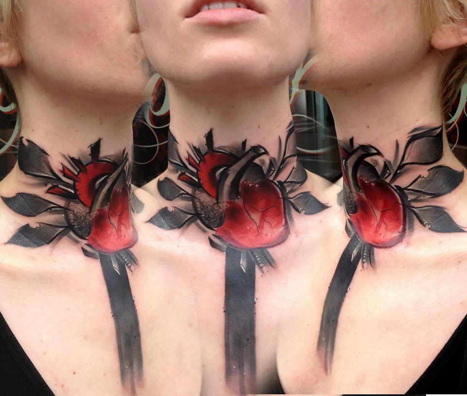 Lukasz Kaczmarek impressice heart tattoo design