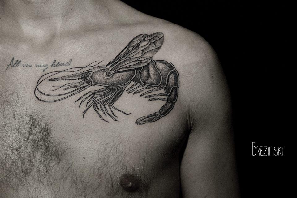 Ilya Brezinski lobster tattoo design