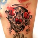 Lukasz Kaczmarek skull tattoo design