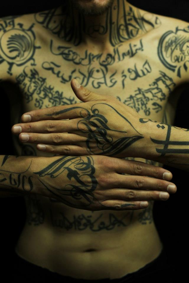 tattoo on hand designed by Sadhu le Serbe