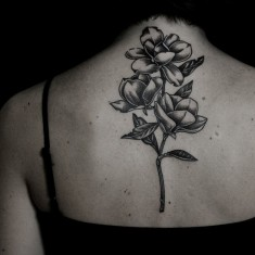 Ilya Brezinski tattoo designed on neck