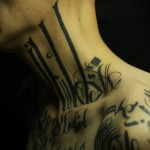 Sadhu le Serbe tattoo designed on neck