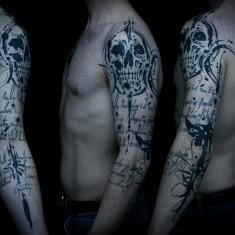 Sadhu le Serbe wonderful skull tattoo