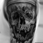 black cemetery tattoo by Gianluca Ferraro