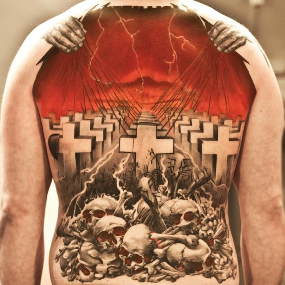 Niki Norberg cemetery tattoo design