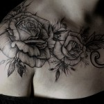 Diana Severinenko flower tattoo design