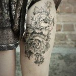 Diana Severinenko amazinf flower tattoo