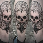 Diana Severinenko skull tattoo design